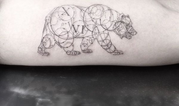 Gorgeous, Intricate Geometric Tattoos Created With Fine Lines And Circles - DesignTAXI.com