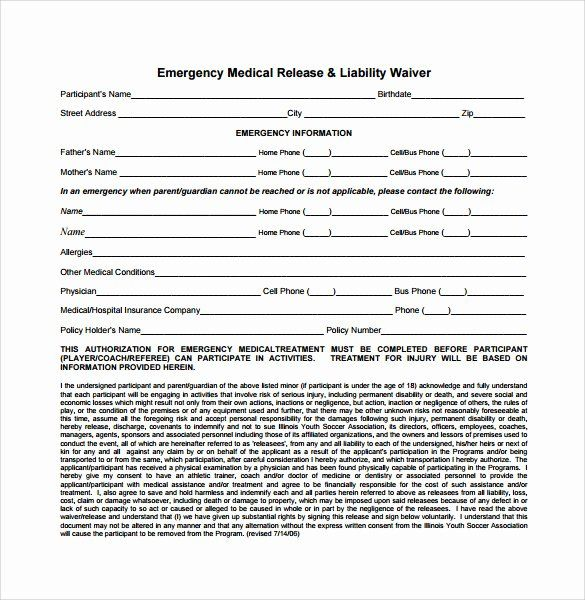 Best Of Insurance Waiver Form Template In 2020 Templates