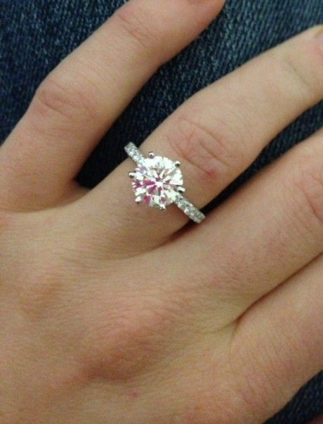 wedding day and engagement ring