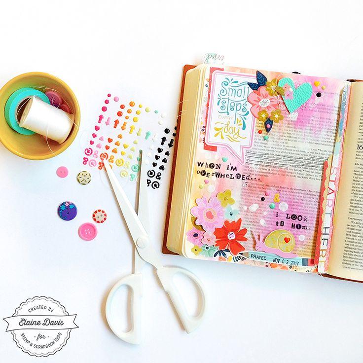 SMALL STEPS by Elaine Davis - Designer Spotlight with Paige Evans: Elaine Davis - Stamp & Scrapbook EXPO #ssbe2017 #guestdesigner