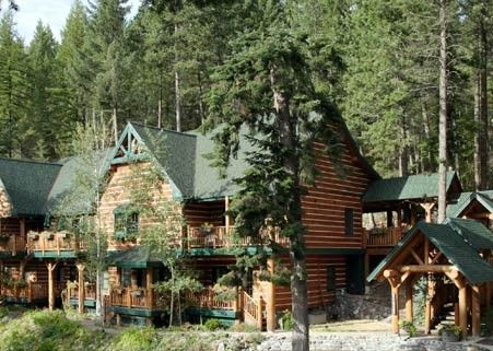 Hidden Moose Lodge, nestled among the trees in beautiful Whitefish, Montana