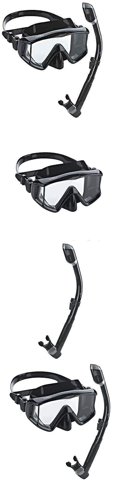 Snorkels and Sets 71162: Phantom Snorkeling Scuba Mask Diving Dive Dry Snorkel Goggles Aquatics Black -> BUY IT NOW ONLY: $49.99 on eBay!