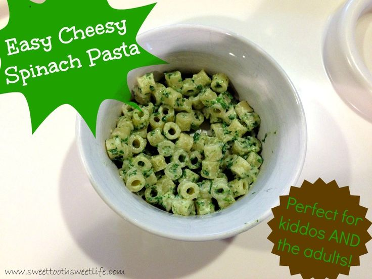 Easy Cheesy Spinach Pasta - a quick, easy dish for fussy toddlers and their parents, too!