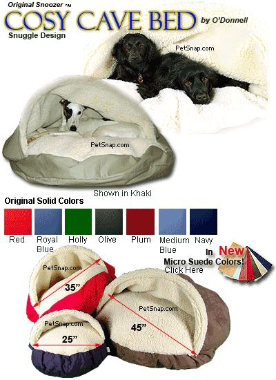Cozy Cave Pet Bed for dogs and cats with FREE Shipping at PetSnap.com