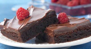 Raspberry Brownies: Brownie mix gets a special flavor twist easily by using raspberry extract. The Raspberry Chocolate Frosting makes the brownies even more appealing.
