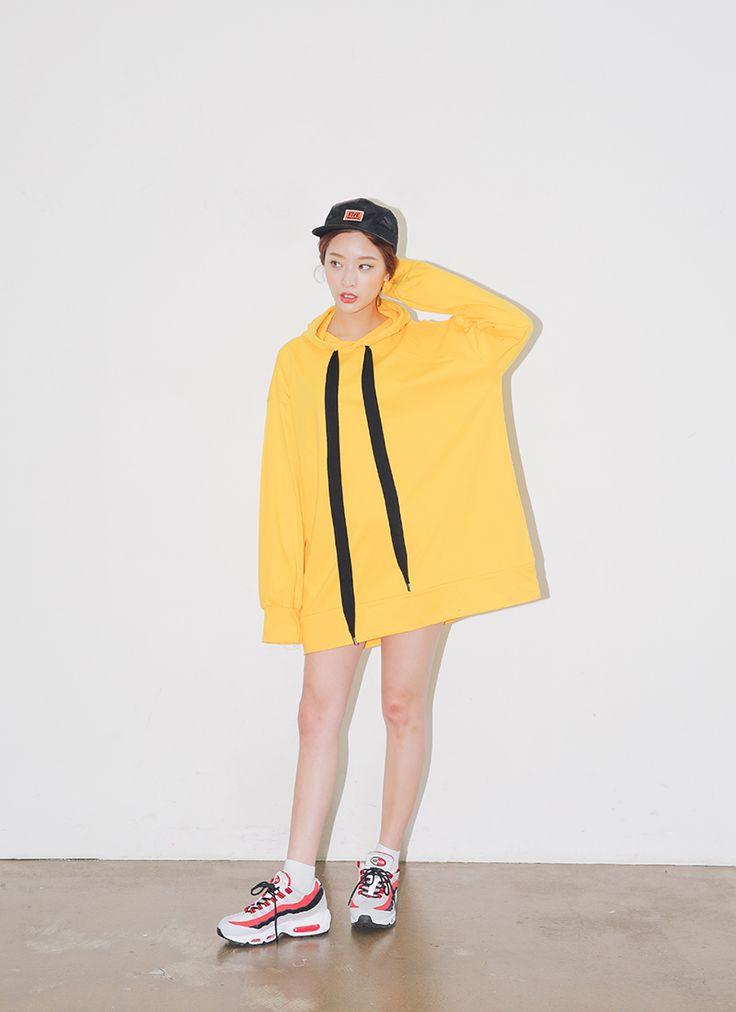 ロングストリングルーズプルオーバーパーカー | レディース・ガールズファッション通販サイト - STYLENANDA