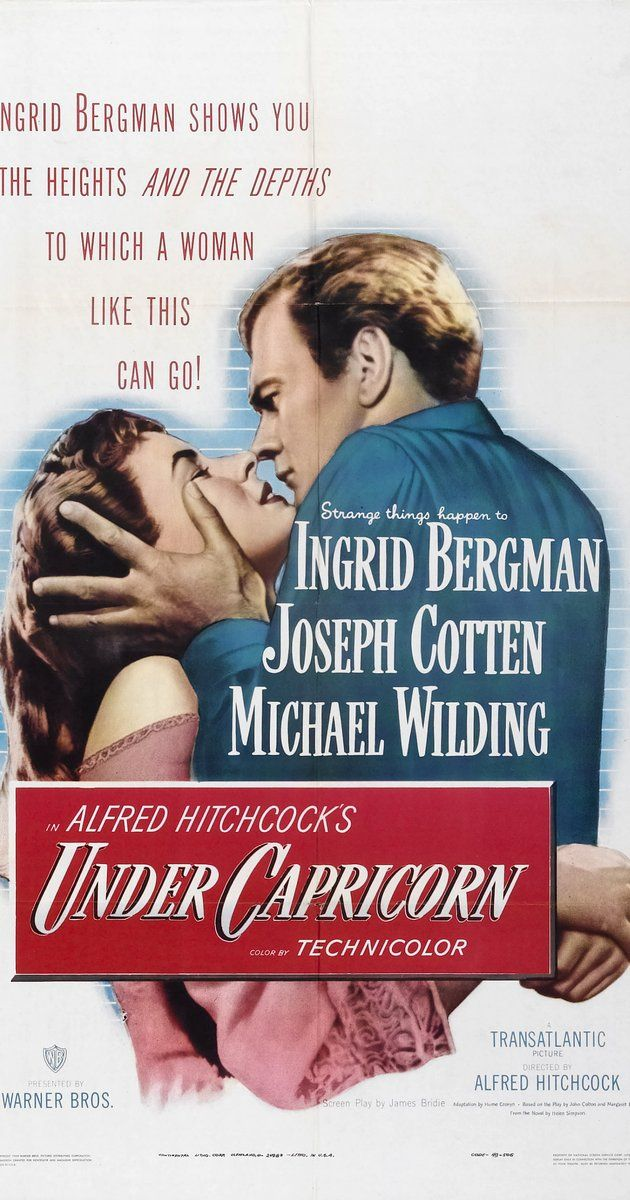 Directed by Alfred Hitchcock.  With Ingrid Bergman, Joseph Cotten, Michael Wilding, Margaret Leighton. A young gentleman goes to Australia where he reunites with his now married childhood sweetheart, only to find out she has become an alcoholic and harbors dark secrets.
