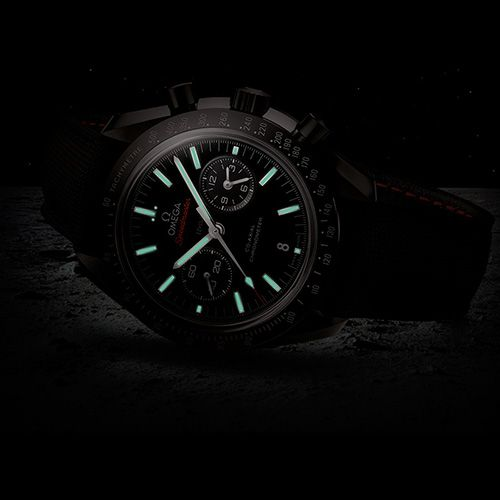 """The Apollo 8 astronauts were the first people to see the dark side of the moon with their own eyes. The black ceramic Co-Axial Speedmaster salutes their pioneering spirit and pays homage to the Speedmaster Professional chronographs worn by every Apollo astronaut OMEGA Speedmaster Moonwatch Co-Axial Chronograph """"Dark Side of the Moon"""" (See more at:http://watchmobile7.com/articles/omega-speedmaster-moonwatch-co-axial-chronograph-dark-side-moon) (4/9) #watches #omega @Omega Hedgepeth Watches…"""