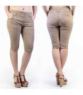 Ce pantacourt beige-taupe est parfait pour le printemps, l'été et l'automne. A avoir. Ce modèle est disponible en grande taille de la taille 42 à 50 pour un prix unique de 21,99€. #Fashionista #HollyMode #RondeEtSexy #pantacourt #grande #taille #femme http://www.hollymode.fr/fr/grandes-tailles/212-pantacourt-grande-taille-caramel-fashion-vetement-pas-cher-tendance-sexy-.html