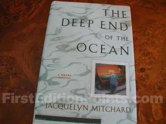Picture of the 1996 first edition dust jacket for The Deep End of the Ocean.