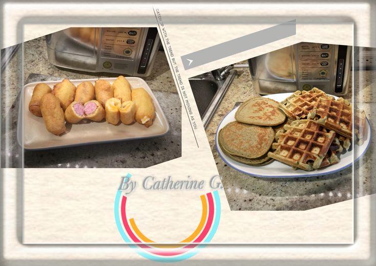 #greentea #pancakes #waffles #cheese #corndogs #tdhgridngraphic