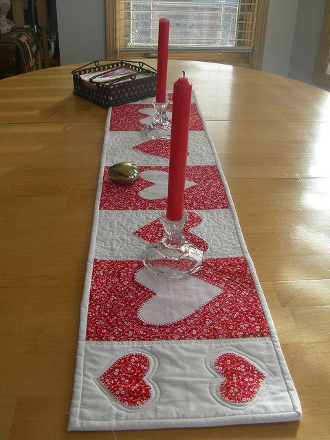 Valentine's table runner by Lala216, via Flickr