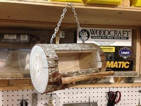 In this video I will show you how easy it is to make a Bird Feeder out of a log while using a band saw.