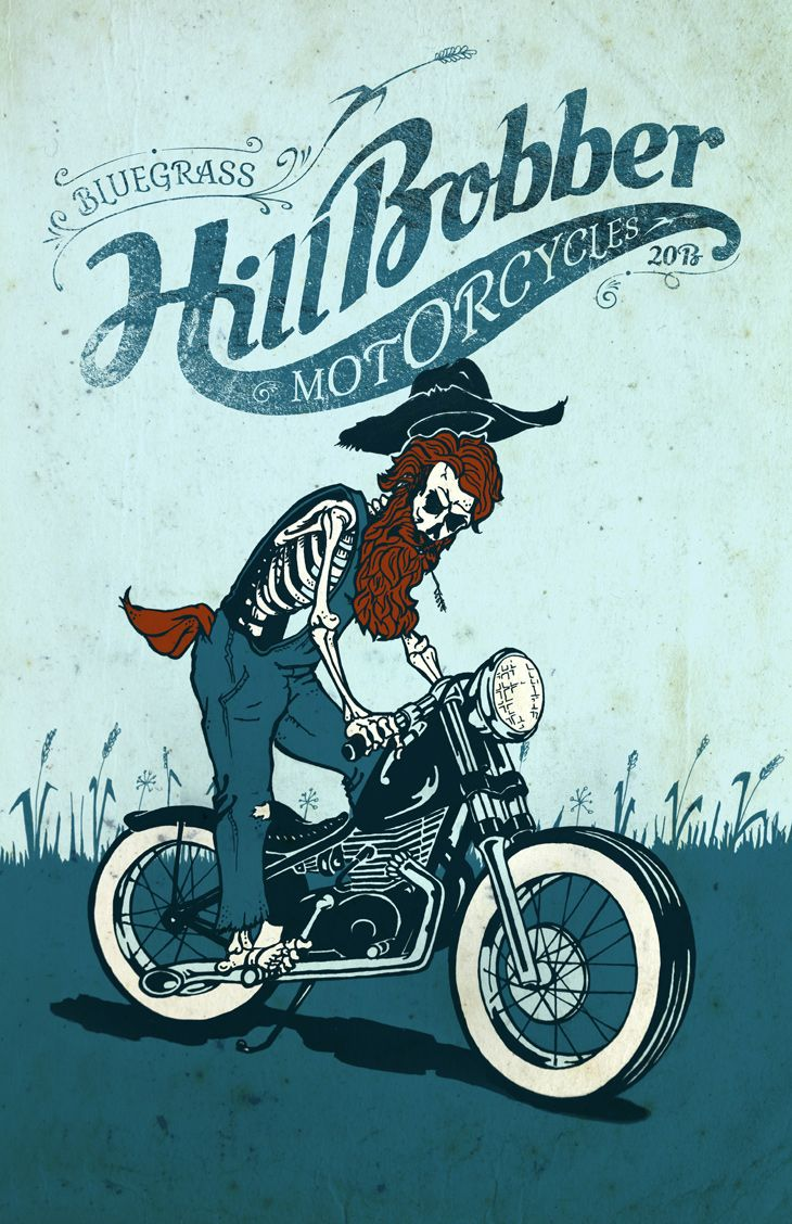 Bluegrass Hill Bobber Motorcycles Poster Design By - MartinHofmann.com