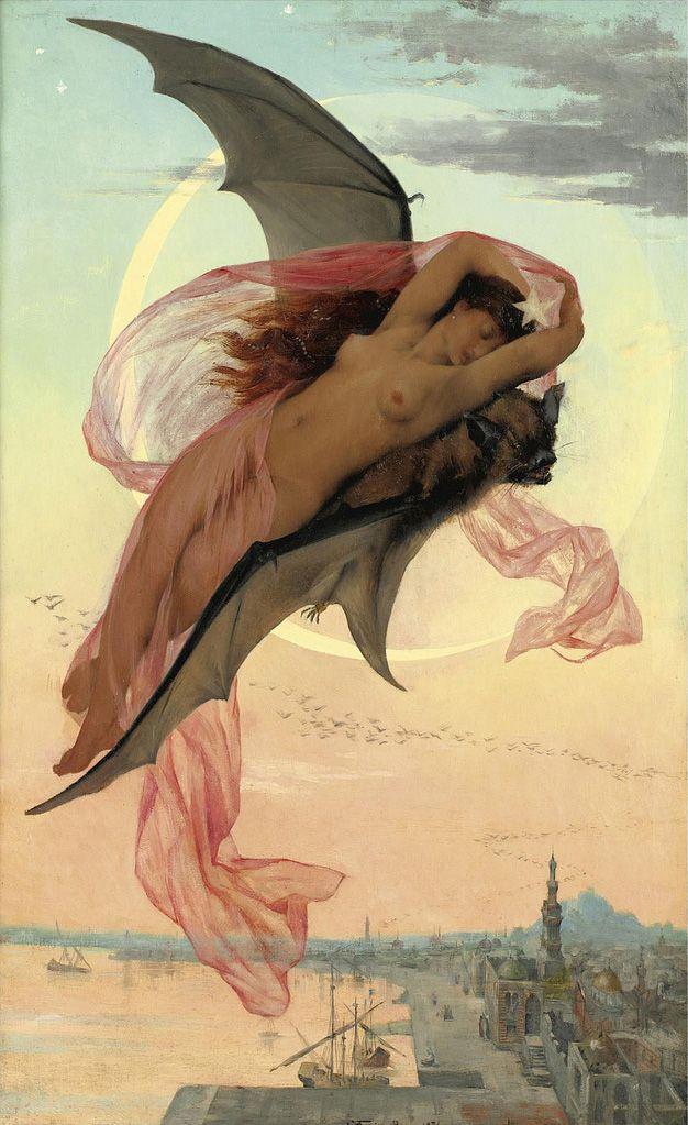 Moonlit Dreams by Gabriel Ferrier (1847-1914)