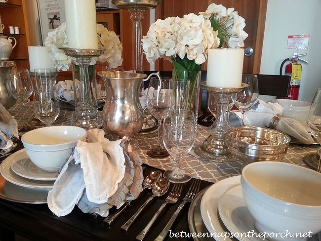 pottery barn table settings tablescapes for fall and halloween - Restoration Hardware Halloween