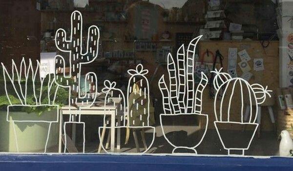 À défaut d'avoir la main verte, dessinons nos fleurs sur la fenêtre !