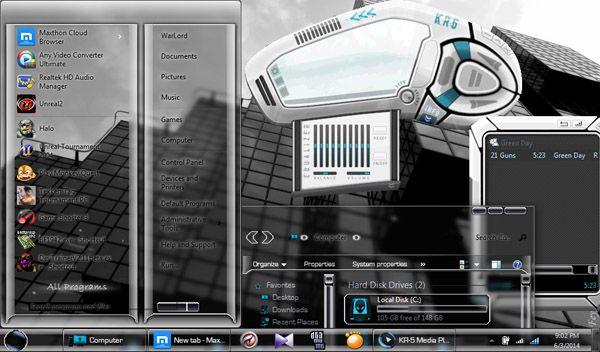 InVitro V2 Windows 7 Theme - free Windows 7 Visual Styles, Windowblinds, Miscellaneous themes download