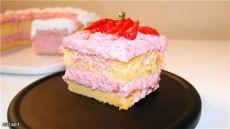Японский хлопковый бисквит+заварной клубничный крем рецепт с фотографиями