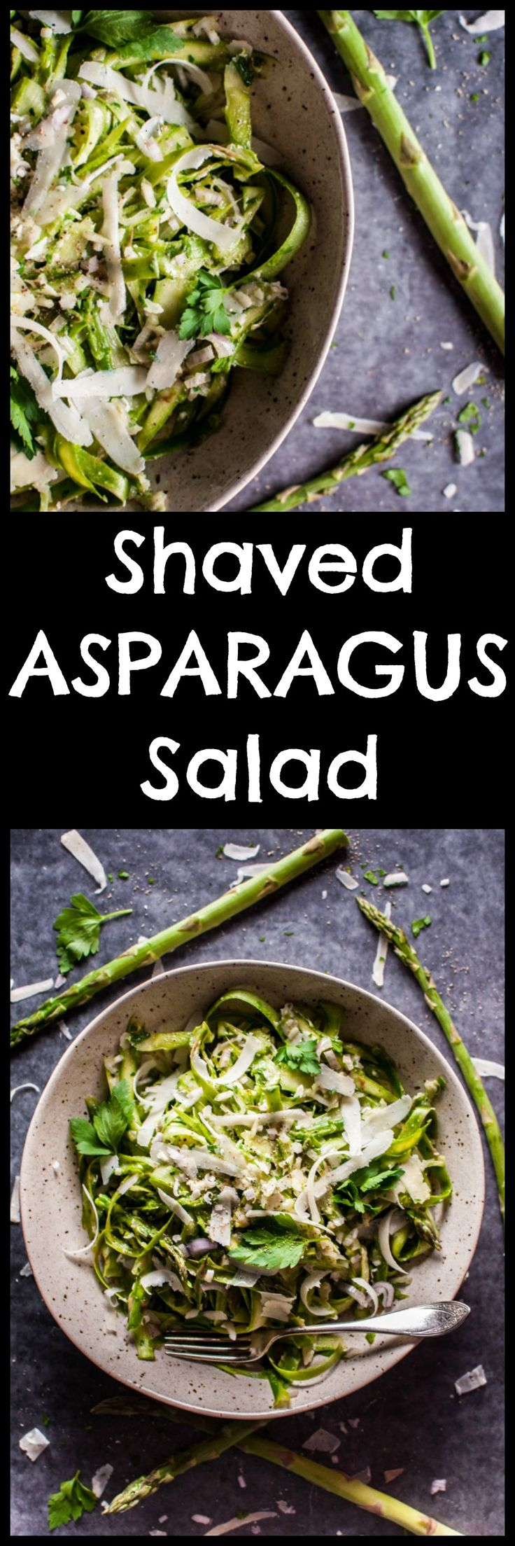 This shaved asparagus salad comes to life with a delicious lemon-Dijon dressing, shallot, fresh parsley, and parmesan cheese. It makes an awesome side salad and will take any meal to the next level! Pin for later :)