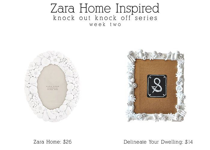 Zara Home Picture Frame : Knock Off Series