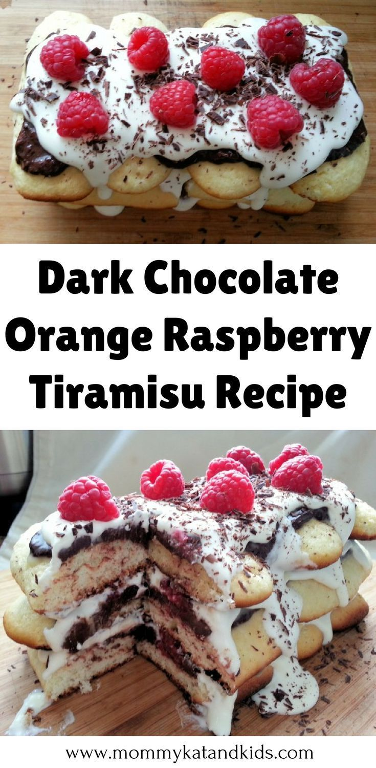 Tiramisu is traditionally a heavy, decadent dessert. I decided to add a kick of flavor to it by incorporating raspberry and rich dark chocolate into the dessert. The result will have your mouth watering even just looking at it! If you're looking for a fun, delicious spinoff of this delicious dessert, this Dark Chocolate Orange Raspberry Tiramisu recipe is for you. Don't forget to save this to your dessert board so you can find it later.