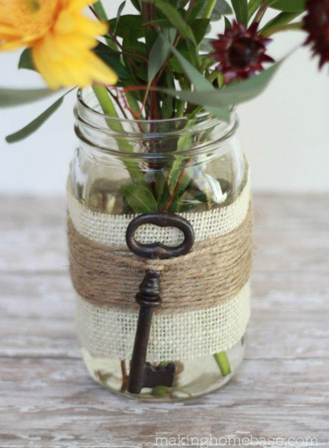 Embellished Mason Jar