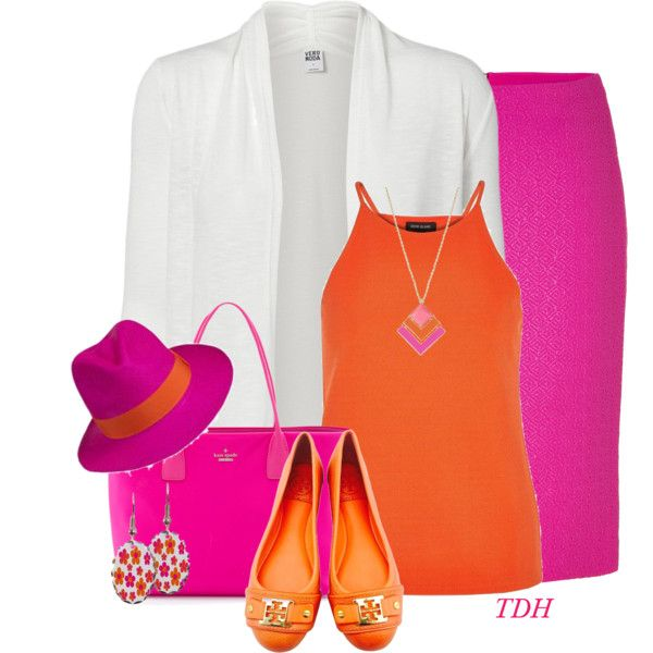 Spring Hat by talvadh on Polyvore featuring moda, Vero Moda, River Island, Versace, Tory Burch, Kate Spade and Kensie