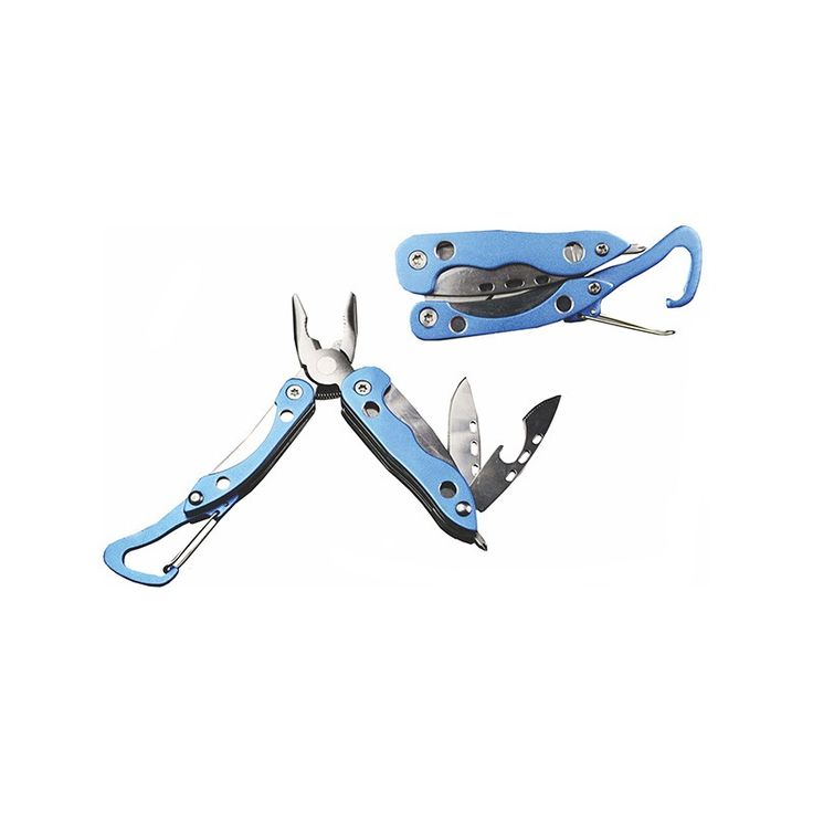 UltraTec Enlan Multi-Tool 7 Function Carabiner (Blue) - Get your 7 in 1 Multi-Tool that will help you out in many situations.
