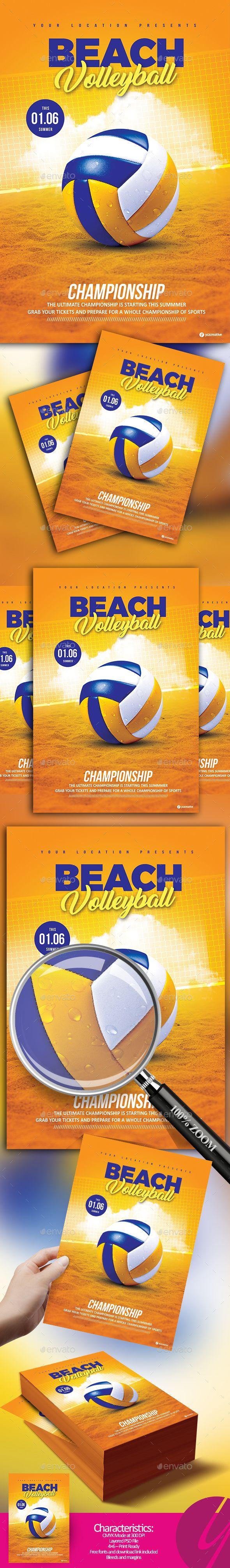 Beach Volleyball Championship — Photoshop PSD #sport #4x6 • Download ➝ https://graphicriver.net/item/beach-volleyball-championship/19977332?ref=pxcr