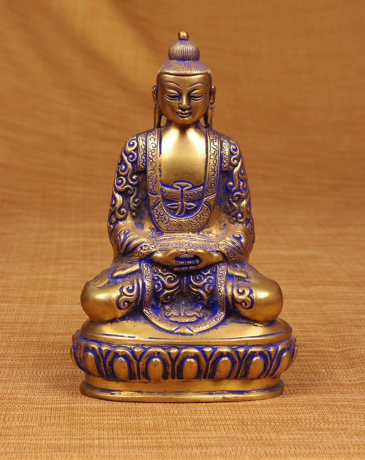 Miami Mumbai Brass Series Chinese Buddha Statue | Wayfair