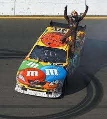 Kyle Bush in the M&M's #18 my driver!!!!