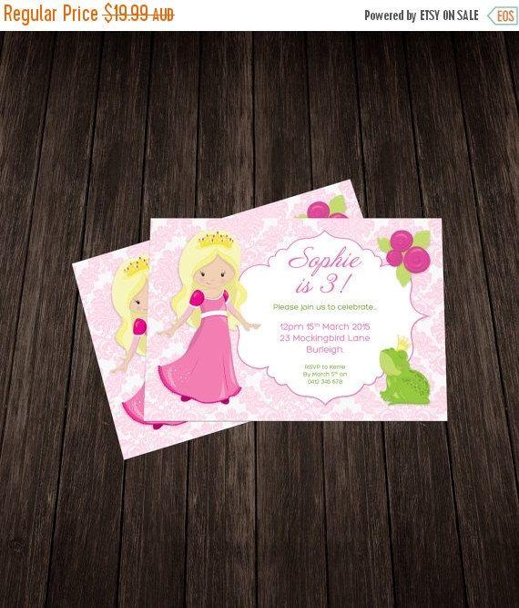 Frog Princess Invite-Pink by KateCastlePrintables on Etsy https://www.etsy.com/listing/244886558/frog-princess-invite-pink