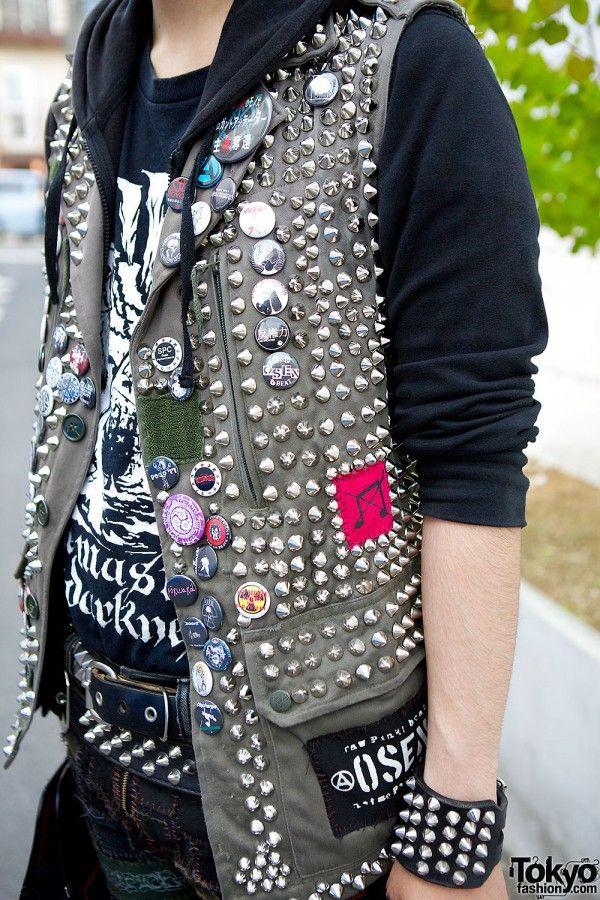 Handmade Studded Punk Vest