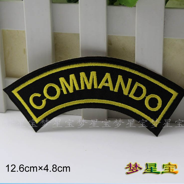 Free Shipping~10pcs/Lot Wholesale Embroidered  Punk Commando   Iron On Sew On Patch Applique Badge