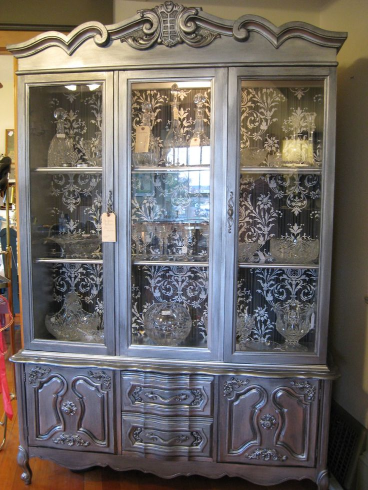 133 best Painted China Cabinets images on Pinterest   Furniture ...