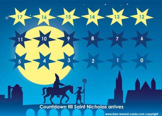 Countdown calendar Saint Nicholas