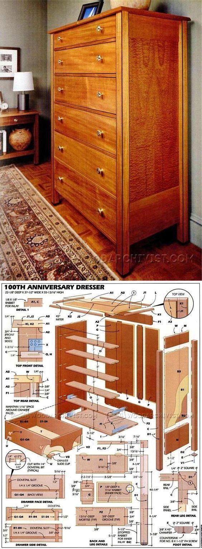 Dresser Plans   Furniture Plans And Projects | WoodArchivist.com