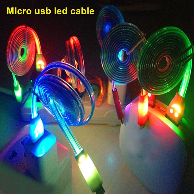 micro usb led light cable