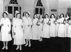 University of Virginia School of Nursing Class of 1937 ~ these would be some of the nurses who would rush to the aid of the soldiers and sailors in the US Army and US Navy Nurse Corps during WWII.