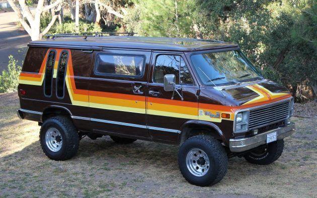70s Style 1978 Gmc G35 Vandura 4wd Conversion Gmc Vans Vintage Vans Chevy Conversion Van
