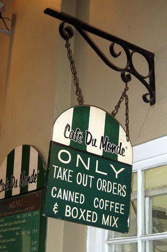 café du monde sign, french quarter, new orleans #nola
