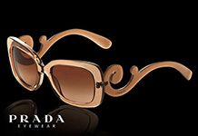 Are you kidding? These Prada sunnies are unbelievable! The dramatic baroque styling will have tongues wagging wherever you go - these are for serious fashionistas only!