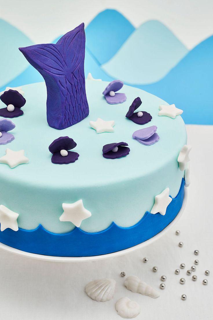 Mermaid diy fondant birthday cake decorating kit for girls
