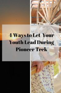 It might be a little more challenging to let the youth lead during Trek, but it is possible. Click the link for some ideas. http://www.ldsyouthleadership.com/4-ways-can-let-youth-lead-pioneer-trek/