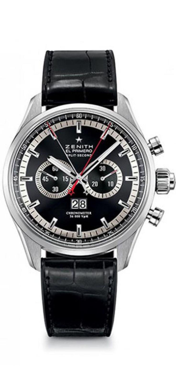 Zenith 03.2050.4026-91.C714 El Primero RATTRAPANTE - черные - швейцарские мужские наручные часы