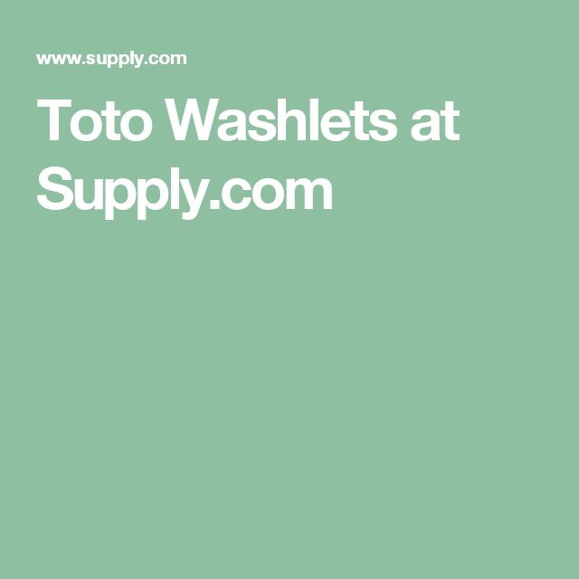 Toto Washlets at Supply.com