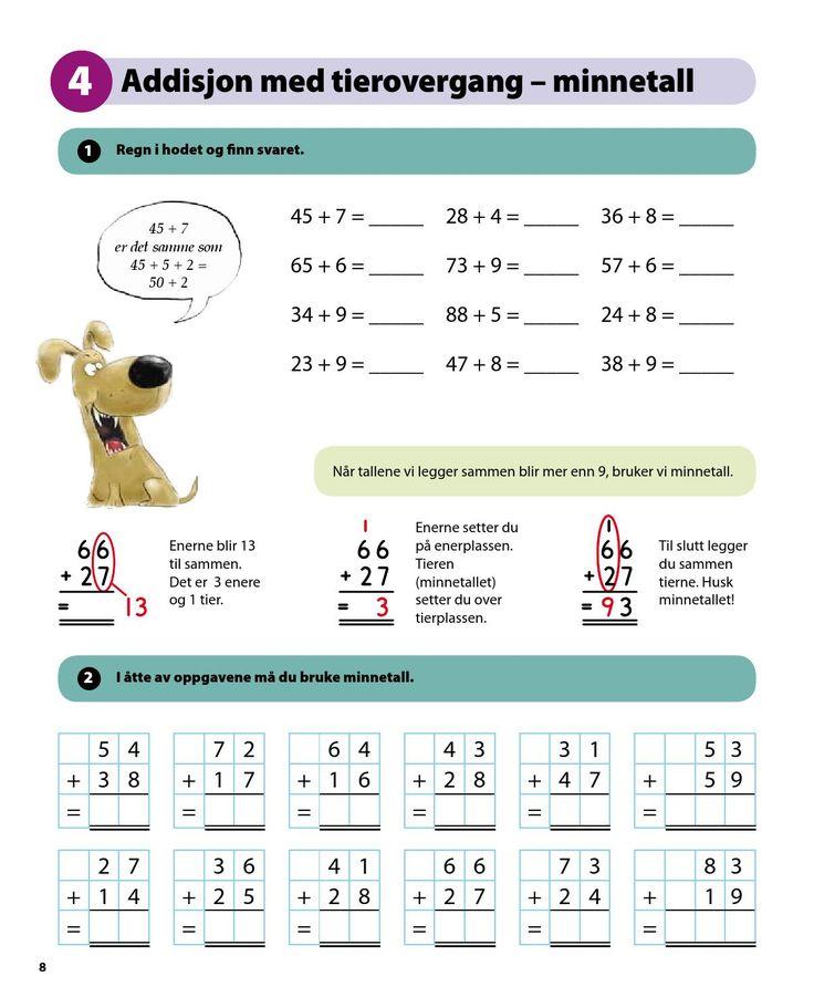 Sett inn støtet! MATEMATIKK er en serie hefter som opplæring i utvalgte tema innenfor matematikk. Oppgavene har enkle instruksjoner og gir innføring i standardalgoritmene.