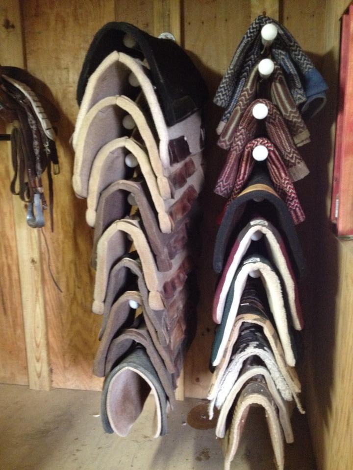 PVC, saddle blanket/saddle pad rack, DIY
