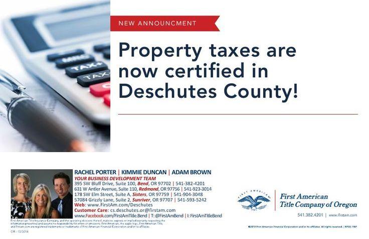 Property Taxes Redmond Oregon